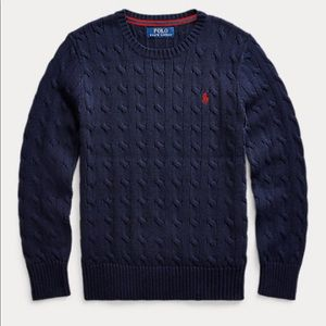 NWT Polo by Ralph Lauren Navy cable knit sweater